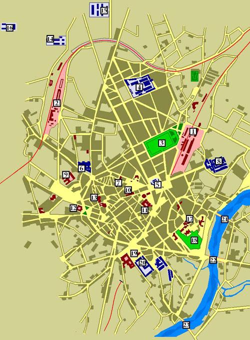 Plan De Ville Limoges